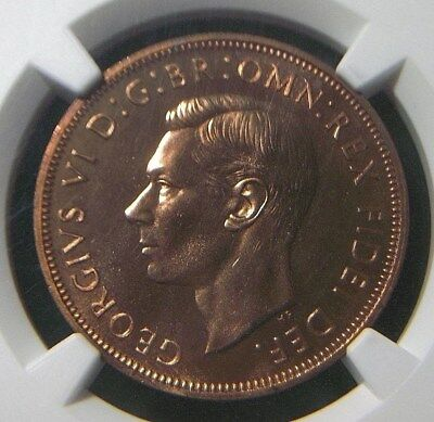 1950 UK Great Britain Proof Penny NGC PF63 RD  FULL RED  1001