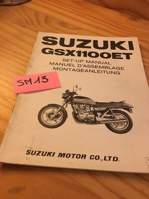 Suzuki GSX1100ET GSX1100E T GSX 1100 instruction preparation setup manuel