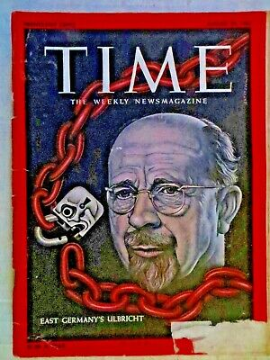 Time Magazine August 25, 1961 East Germany's Walter Ulbricht  VINTAGE ADS