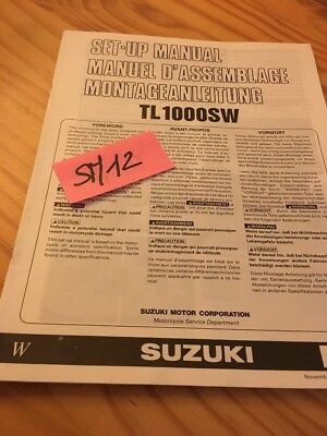 Suzuki TL1000SW TL1000S W TLS 1000 instruction preparation setup manuel montage