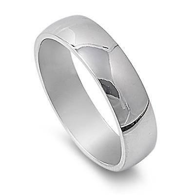 Plain Silver Stainless Steel Ring 6mm ~ Ladies / Mens ~ Sizes 7 8 9 10 / O Q S U