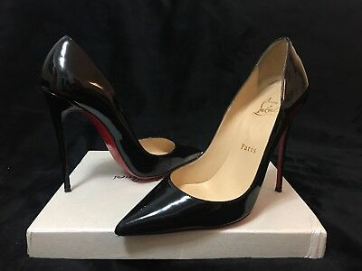 6892f6944100 Authentic Christian Louboutin Black Patent So Kate 120mm size 37 Red Bottom