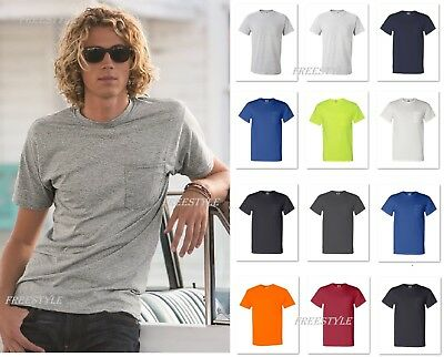 Fruit of the Loom HD Cotton Tee Men's T-Shirt with Pocket 3930PR 3931P Tearaway