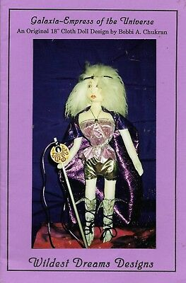 """Galaxia empress of the universe 18"""" cloth doll pattern wildest dream designs USA"""