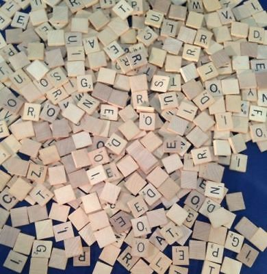 vintage old style USA SCRABBLE LETTER TILES  (A-Z) WOODEN, GREAT FOR CRAFTS