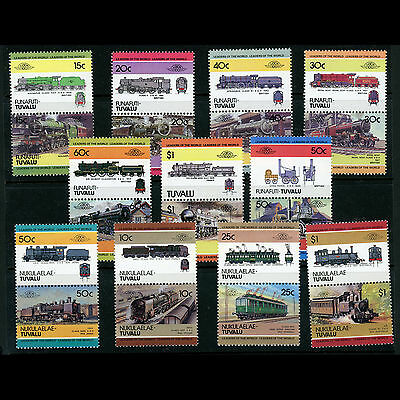 TUVALU Trains. 11 Pairs (22 Values). Mint Never Hinged. (AT209)