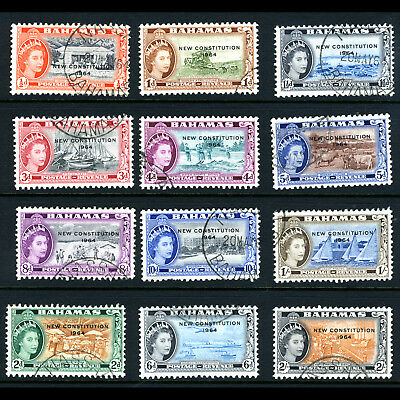 BAHAMAS 1964 New Constitution Short Set to 2s. SG 228-239. Fine Used. (BH534)