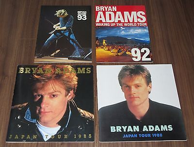 FREE ship! 4 x SET! Bryan Adams JAPAN tour book CONCERT PROGRAM more in stock!