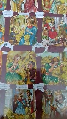 Vintage Style Scrap Relief Sheet Scrapbook Craft Fairy Tales/nursery Rhymes
