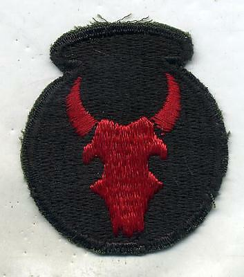 WWII WW2 US Army 34th Infantry Division Color Patch Cut Edge