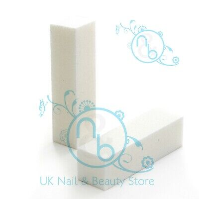 White Buffer Block Acrylic Nail Art Buffing Sanding Block File Various Options