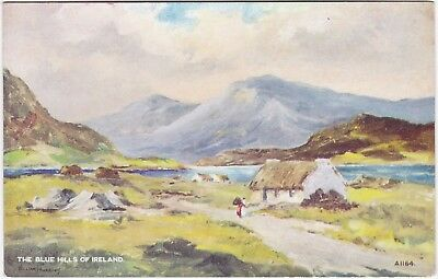 Artist Drawn, THE BLUE HILLS OF IRELAND, Valentines Art Card