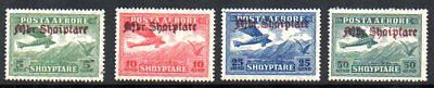 Albania: 1929 Air ovpt. set to 50q (4) SG 270-3 mint