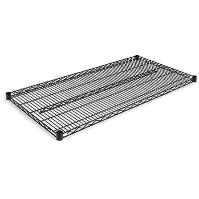 Alera Black 48x28 Industrial Extra Wire Shelving (Set of 2)