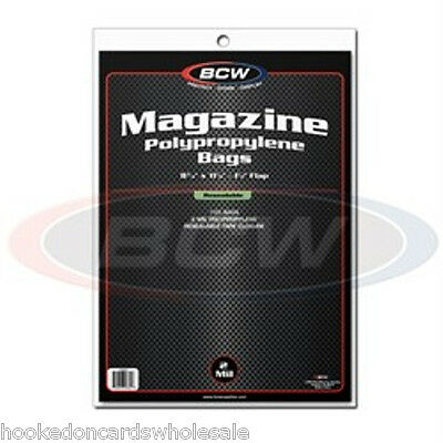 "1 Pack (100) BCW 8 3/4"" x 11 1/8"" Resealable Magazine Storage Bags Sleeves"