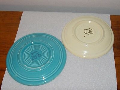 "Vintage Fiesta Turquoise 6"" Bread Plate Homer Laughlin Ivory Saucer Original"