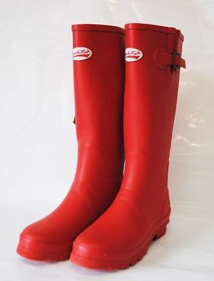 Rockfish Wellies Boots Brand New In Box RED