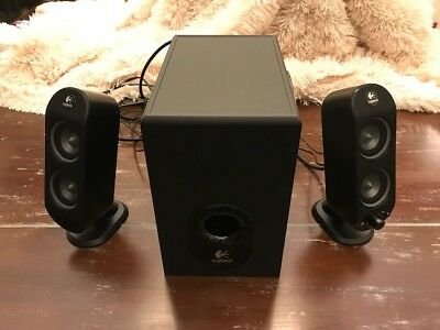 Logitech X-230 2.1 Dual Drive Computer Speakers System Ported Subwoofer 3-piece