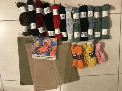 Mixed Lot Tapestry Yarn Wool Canvas Book Needlepoint Embroidery