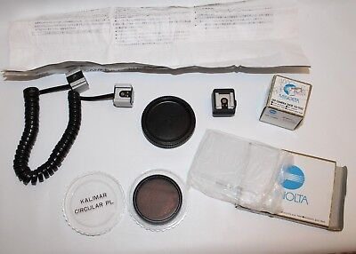 LOT of Assorted Minolta Accessories Off Camera shoe Kalimar Wide panel 4000af