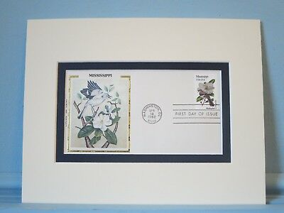 State Bird & Flower of Mississippi - Mockingbird & Magnolia & First Day Cover