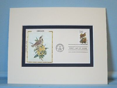 State Bird & Flower of Oregon - the Meadowlark & Oregon Grape & First Day Cover