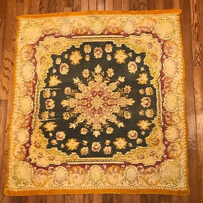 """Antique Rug Wall Hanging Oriental Tapestry Carpet 45"""" X 47"""" NC10"""