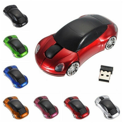 2.4GHz Wireless Mouse Racing Car Shaped Optical Gaming Mice With USB Receiver