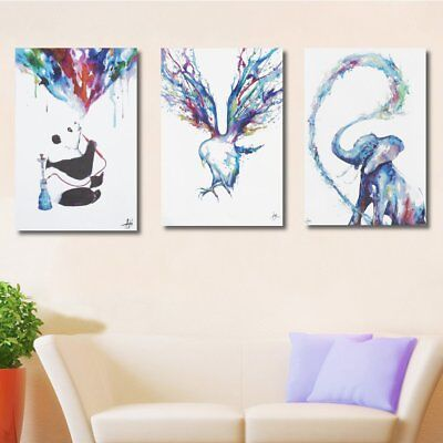 Watercolor Picture Canvas Painting Art Print Wall Home Decor Unframed 90x60cm
