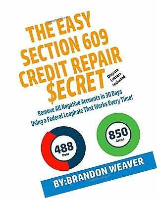 Do it yourself credit repair letters and help documents easy 609 the easy section 609 credit repair secret remove all negative accounts in 30 solutioingenieria Image collections