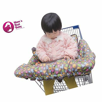 Deluxe Grocery Shopping Cart and High Chair Cover - Unisex - New Easy Fold De...