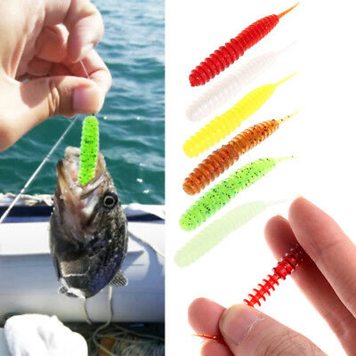 10Pcs 6CM 13g Salty Lombrico Fishing Bait Artificial Sea T Tail Soft Gel Worms