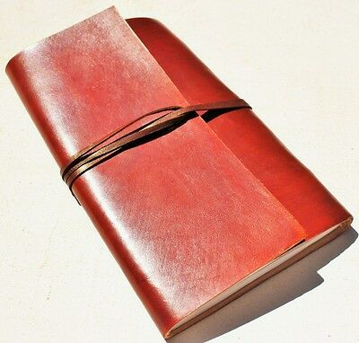 Handmade Classic Brown Refillable Leather Journal Diary Notebook Great Gift