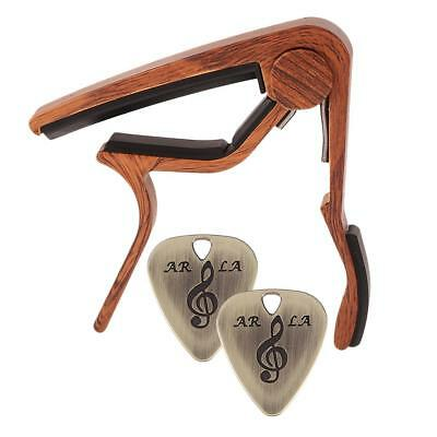 Tune Quick Change Capo Key Clamp with 2 Picks for Acoustic Electric Guitar