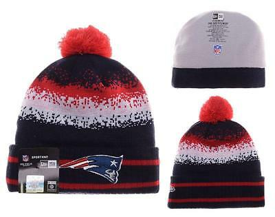 ... usa new england patriots nfl speckle blend cuffed pom knit beanie hat  toque new era b3126 6672d8e905ed