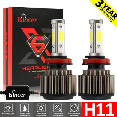 H11 H8 H9 4-Side LED Headlight Kits 1820W 270000LM Bulbs Canbus High Power 6000K