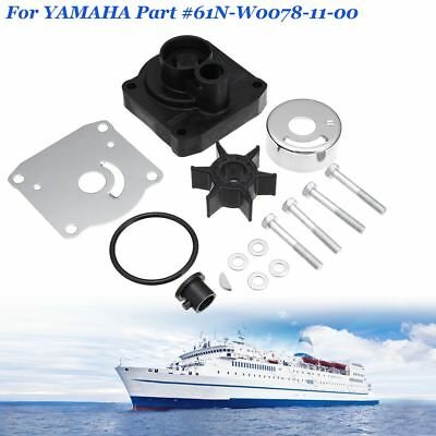 Water Pump Impeller Repair Kit For Yamaha 25hp Outboards #61N-W0078-11-00 Black