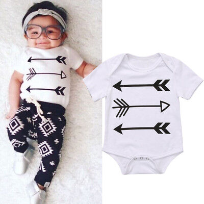 AU Stock Toddler Baby Boys Girls Summer Romper Bodysuit Jumpsuit Outfits Clothes