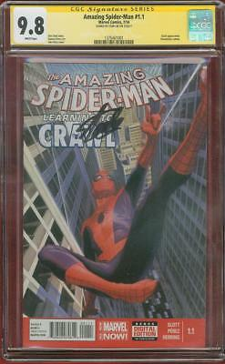 Amazing Spider Man 1.1 CGC SS 9.8 Stan Lee Top 1 Alex Ross Classic Cover