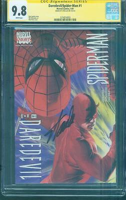 Spider Man / Daredevil 1 CGC 9.8 SS Stan Lee signed Alex Ross Cover