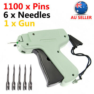 Clothes Garment Price Label Tagging Tags Gun Machine+1100 Barbs+6 Steel Needles