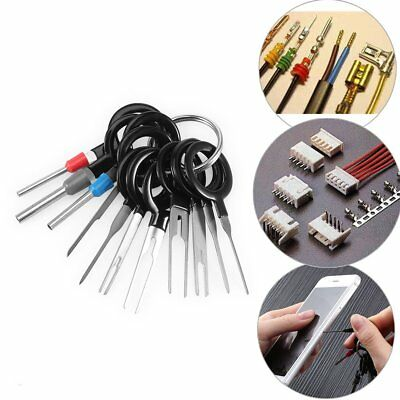 SET of 11 Pin Removal Tool Wiring connector Extractor Puller PC Car Terminal A@