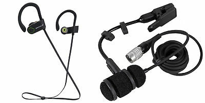 Audio Technica PRO 35cW Cardioid Condenser Clip-on Instrument Microphone+Earbuds