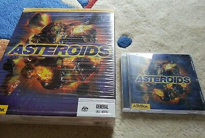 Activision Asteroids 1998 PC CD-ROM Vintage Retro game with box & manual
