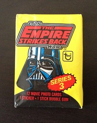 "1980 Topps ""The Empire Strikes Back  - Series 3"" - Wax Pack (Loaded CANDY Var)"