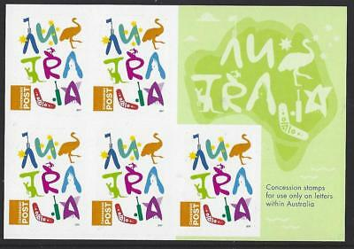 Australia 2017 Concession Stamps Sheetlet Unmounted Mint, Mnh