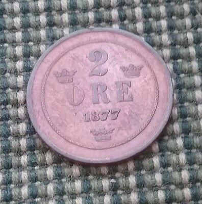 Sweden  1877 Two ore