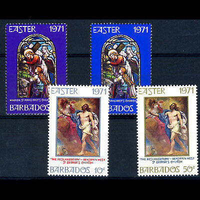 BARBADOS 1971 Easter. Art. SG 425-428. Mint Never Hinged. (AM458)