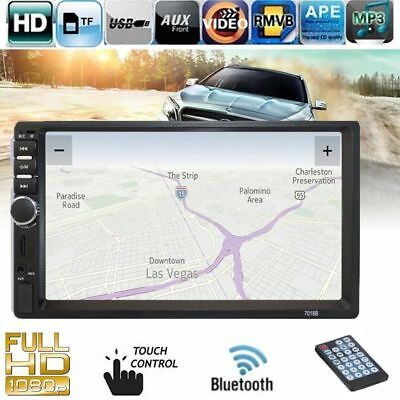 "7"" 2 Din Touch In Dash Car Stereo MP3 MP5 Player Bluetooth FM Radio USB/TF/AUX H"