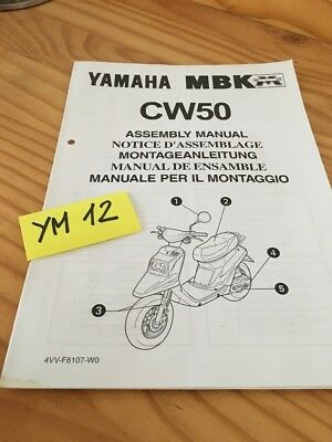 Scooter Yamaha MBK CW50 CW 50  instruction preparation setup manuel montage